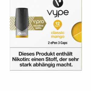 Vype_ePen3_CapPack_Classic_Mango_12mg_Front-300x300 Vype - ePen3 - CapPack - Classic Mango - 12mg Nikotin